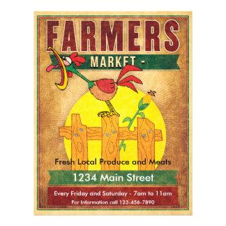 Farmers Market Morning Rooster Flyer