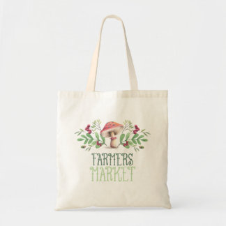 Farmers Market Mushroom Tote Bag