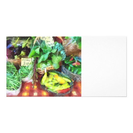 Farmer's Market - Peppers and String Beans Photo Card