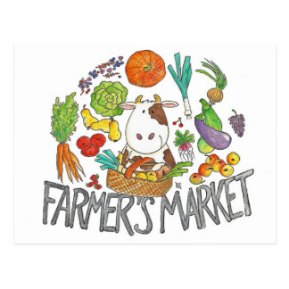 FARMER'S MARKET postcard by Nicole Janes