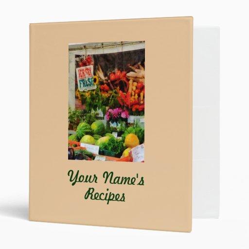 Farmer's Market Recipe Binder