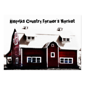 Farmer's Market Red Country Barn Business Card Templates