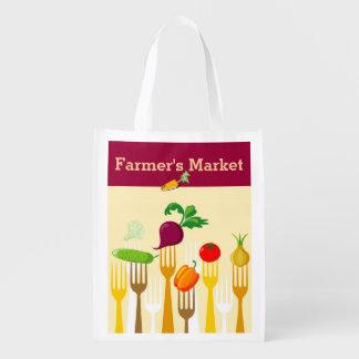 Farmer's Market Reusable Shopping Bag Reusable Grocery Bags