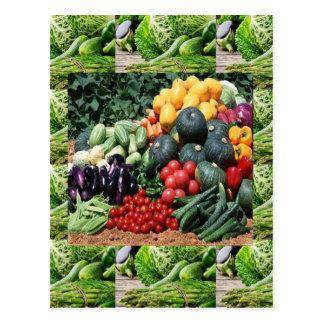 Farmers market veggie delight chefs cuisine ideas postcard