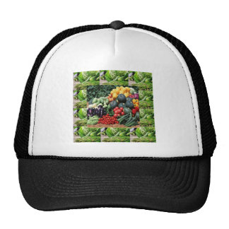 Farmers market veggie delight chefs cuisine ideas trucker hat