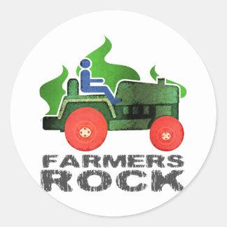 Farmers Rock Classic Round Sticker
