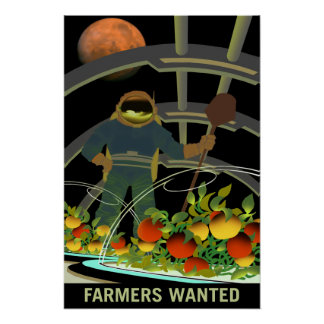 Farmers Wanted for Survival on Mars Poster