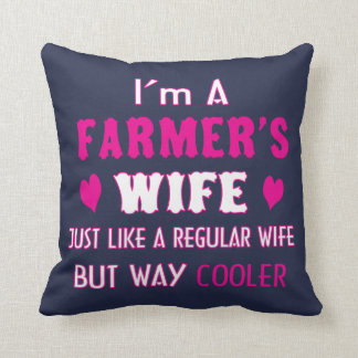 Farmer's Wife Throw Pillow