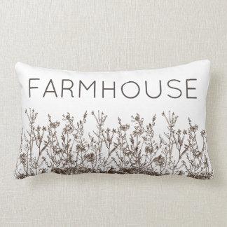 Farmhouse Barnwood Pillow Wildflowers