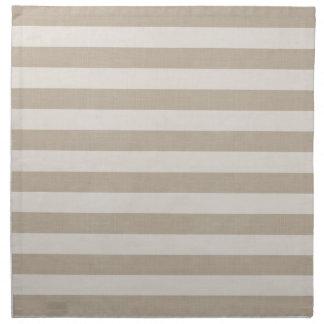 Farmhouse Beige Linen Stripes Napkin