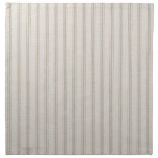 Farmhouse Beige Linen Ticking Stripes Napkin