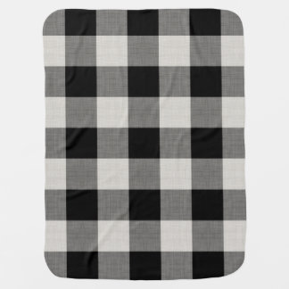 Farmhouse Black Buffalo Check Baby Blanket