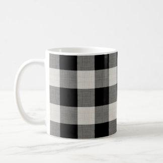 Farmhouse Black Buffalo Check Coffee Mug