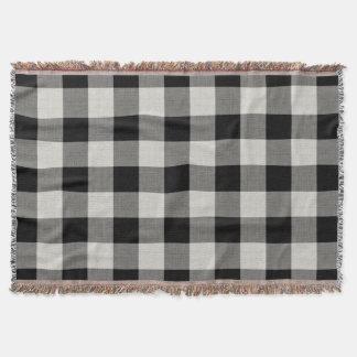 Farmhouse Black Buffalo Check Throw Blanket