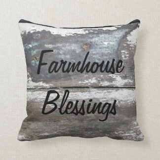 Farmhouse Blessings Throw Pillow