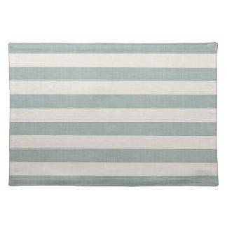 Farmhouse Blue Linen Stripes Placemat