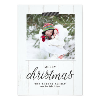 Farmhouse Chic Christmas Photo Card