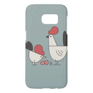 Farmhouse chicken and eggs rustic iPhone Case