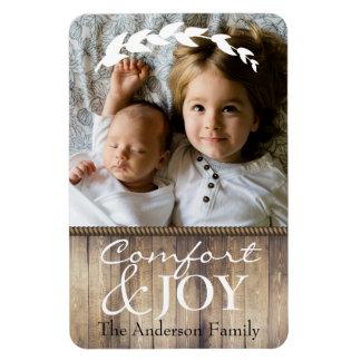 Farmhouse Comfort & JOY Family Photo & Name Magnet