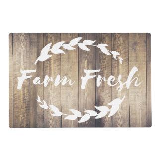 Farmhouse Country Laurels Farm Fresh Laminated Placemat