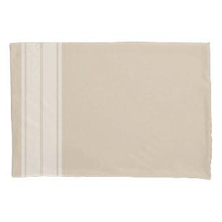 Farmhouse Country White Stripe & Taupe Pillowcase