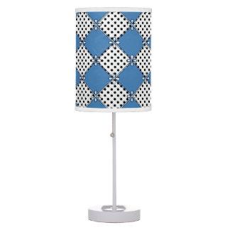 Farmhouse-Design's_Diamond's & Dot's_Blue_Unisex Table Lamp