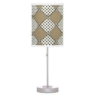 Farmhouse-Design's_Diamond's & Dot's_Taupe_Unisex Table Lamp