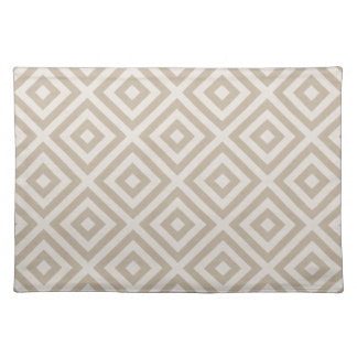 Farmhouse Diamond X Beige Linen Placemat