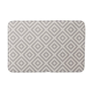 Farmhouse Diamond X Gray Linen Bath Mat
