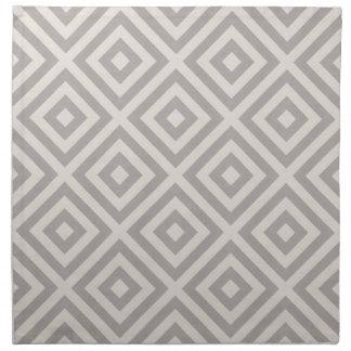 Farmhouse Diamond X Gray Linen Napkin
