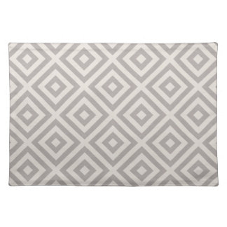 Farmhouse Diamond X Gray Linen Placemat