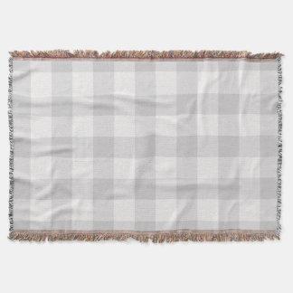 Farmhouse Gray Buffalo Check Throw Blanket