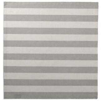 Farmhouse Gray Linen Stripes Napkin