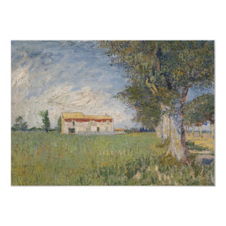 Farmhouse in a wheat field Invitation