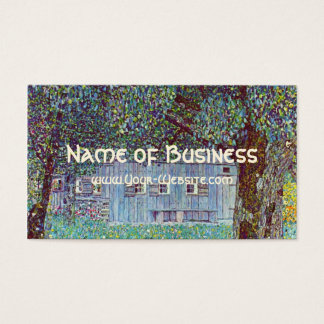 Farmhouse in Austria by Klimt, Victorian Fine Art Business Card