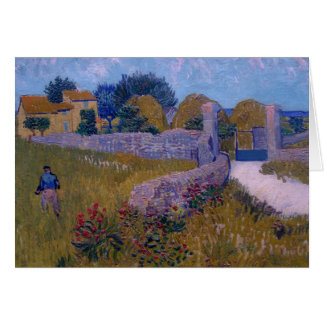 farmhouse in provence-1888-vincent van gogh card