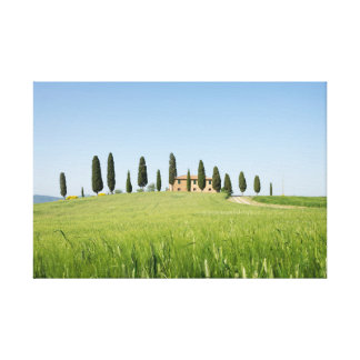 Farmhouse in Tuscany with cypresses canvas print
