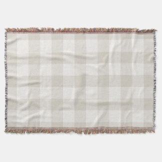 Farmhouse Linen Buffalo Check Throw Blanket