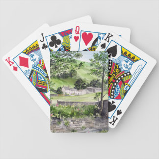 Farmhouse near Thirlmere, Lake District, England Bicycle Playing Cards
