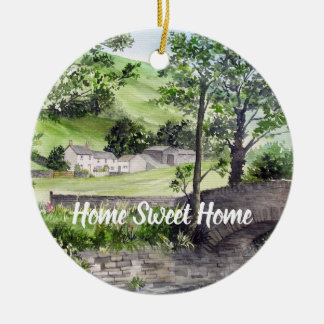 Farmhouse near Thirlmere, Lake District, England Ceramic Ornament