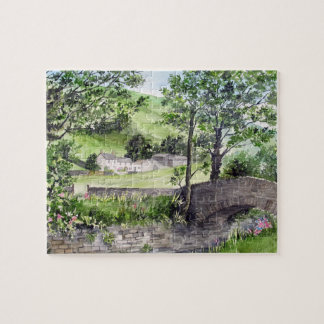 Farmhouse near Thirlmere, Lake District, England Jigsaw Puzzle