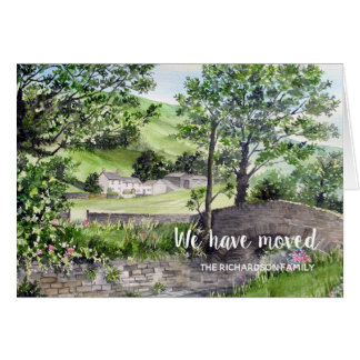 Farmhouse near Thirlmere New Home We Have Moved Card
