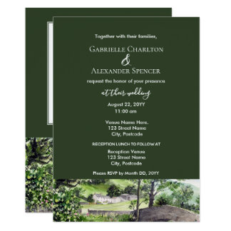 Farmhouse near Thirlmere Wedding Invitation