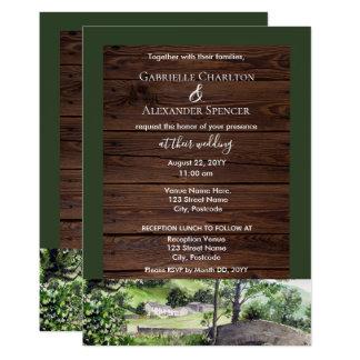 Farmhouse near Thirlmere Wedding Invitation