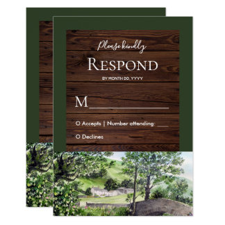 Farmhouse near Thirlmere Wedding Response RSVP Card