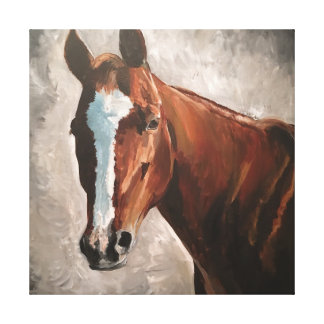 Farmhouse Ranch Sorrel Horse Canvas Wall Art