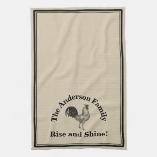 Farmhouse Rustic Chicken Custom Family Kitchen Towel
