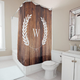 Farmhouse Rustic Country Bow Laurels Wood Planks