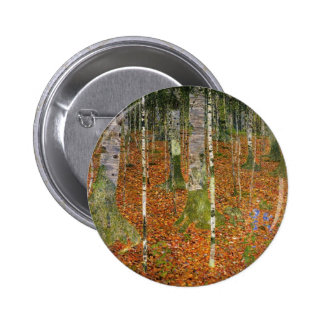 Farmhouse with Birch Trees 2 Inch Round Button