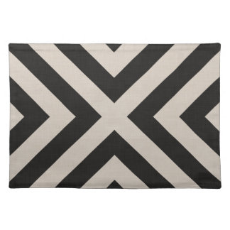 Farmhouse X Black Linen Placemat